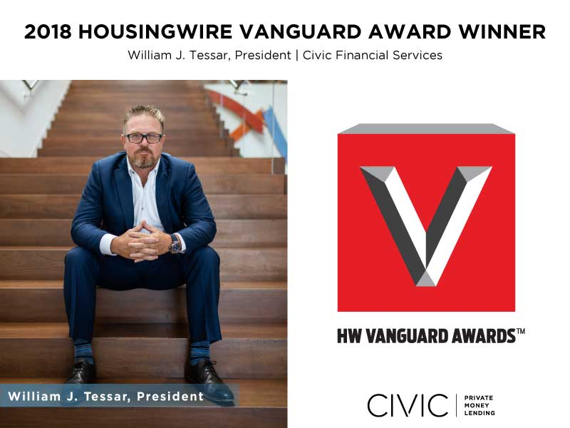 HousingWire Vanguard Award 2018 Civic Financial Services William Tessar